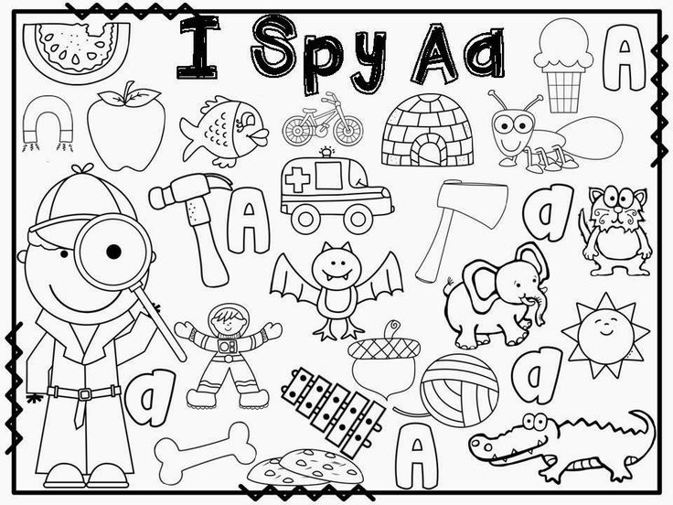 I spy letter activities for every letter of the alphabet