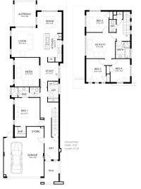 Lot Narrow Plan House Designs Craftsman Narrow Lot House ...