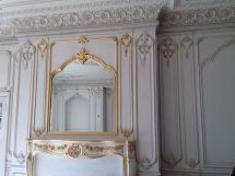 Hand Carved Boiserie Living Room With Gold Leafing