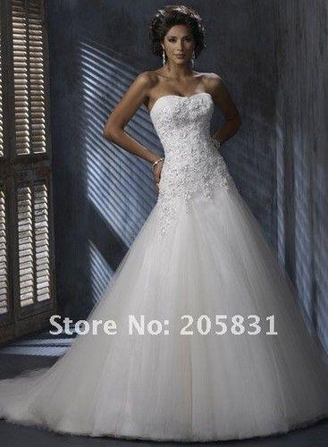 Brautkleid Brautmode Hochzeit Weiß Schwarz Creme Ivory Schleppe