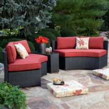 Curved Wicker Patio Furniture Sets
