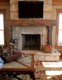 Reclaimed Barn Beam Fireplace Mantels