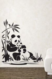 Adorable Panda Wall Sticker. The super adorable panda bear ...