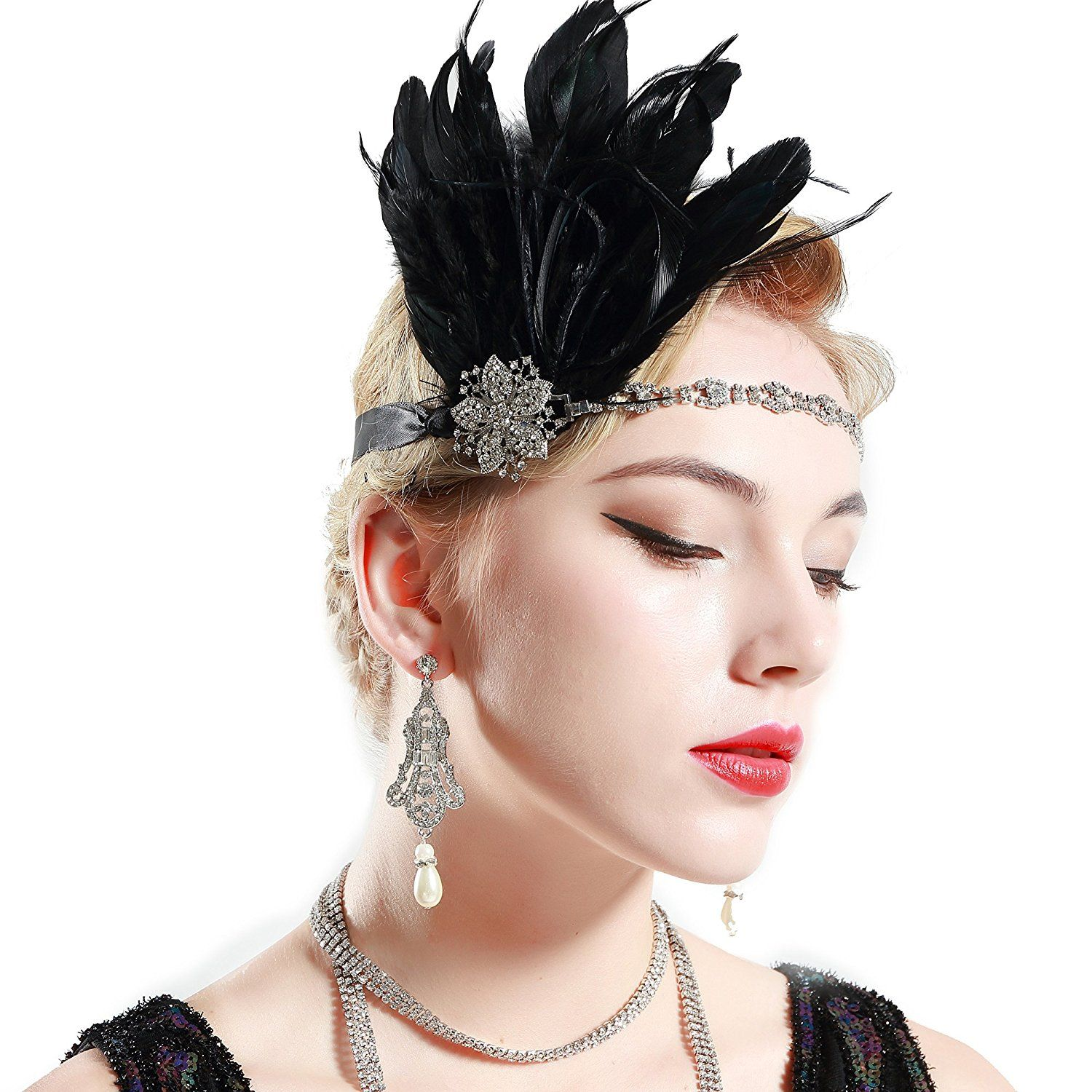 Babeyond Women s Stunning Party Prom Vintage 1920s Gatsby Headpiece