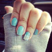 opi light blue snowflake nails