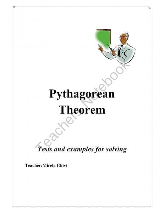 Pythagorean Theorem from Mirela.C on TeachersNotebook.com