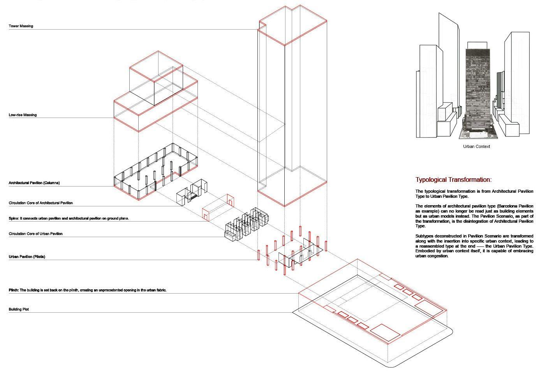 5 Urban Pavilion Type Reassembled Elements Seagram