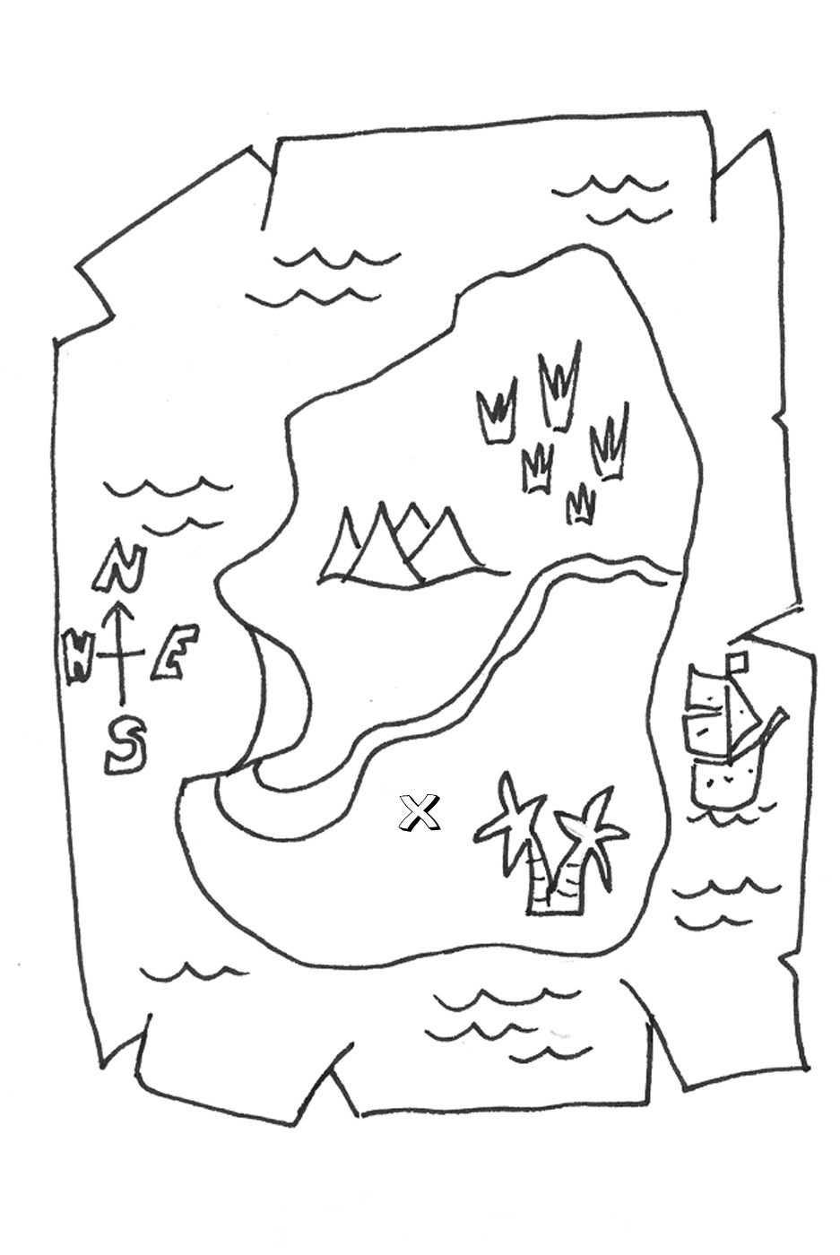 My nephew loves coloring pages dealing with pirates, maps