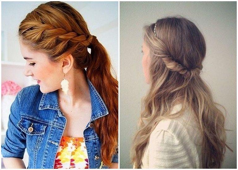 Lässige Frisuren Für Schulterlange Haare Frisuren Pinterest