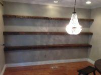 Reclaimed White Oak Floating Shelves   porterbarnwood.com ...