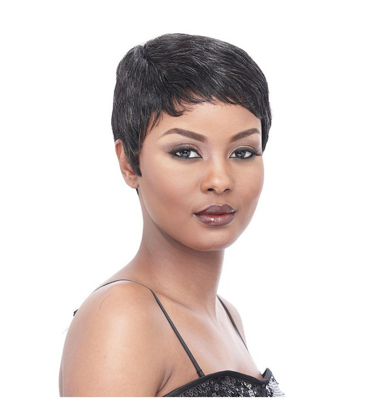 Short Wigs It's A Wig Cap Weave Human Hair Short & Sassy Molly