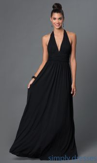Long Black Formal Halter Dress | Long black formal dresses ...