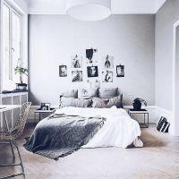 Grey, White bedroom   Minimalistic   Pinterest   Pink ...