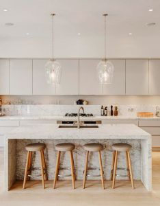 of the most stunning modern marble kitchens also countertops rh pinterest