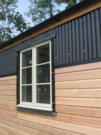black corrugated metal facade - Google Search   Corrugated ...