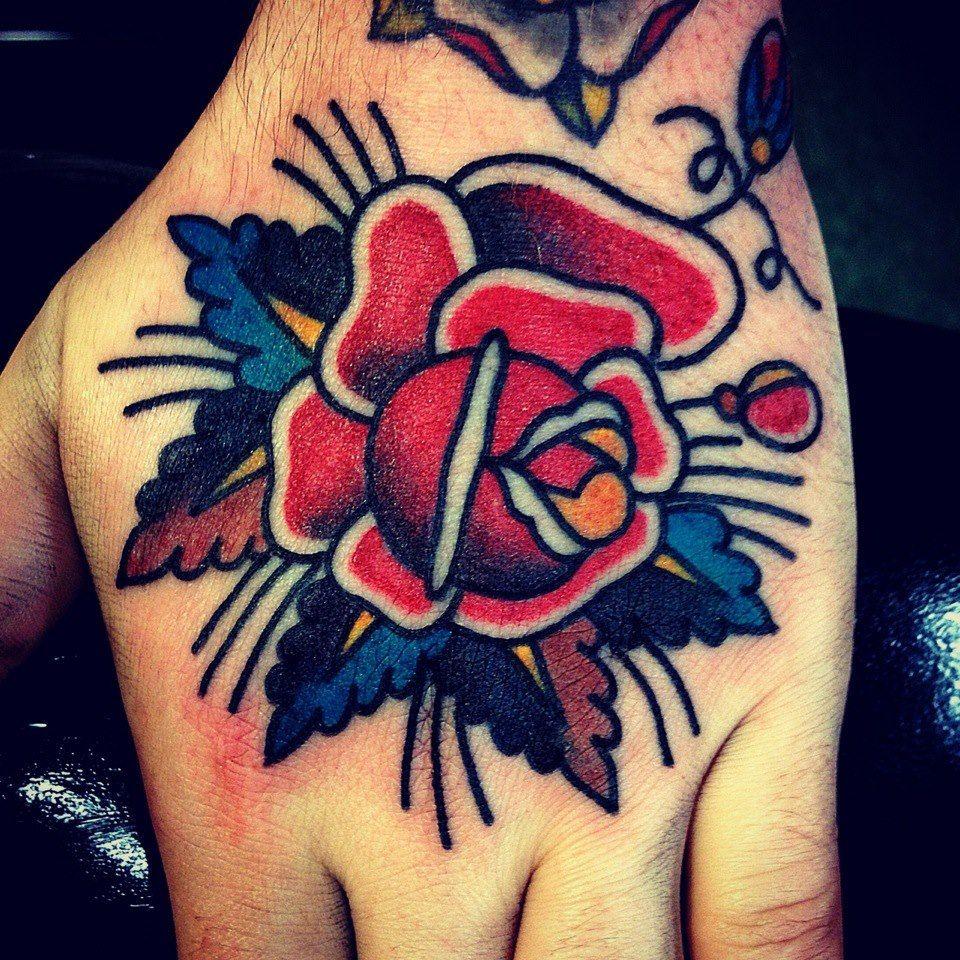 Amazing Traditional Rose Tattoo  Tattoos  Pinterest