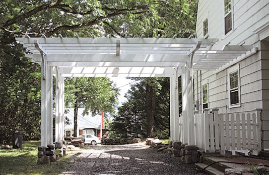 Driveway Pergola This Garden Structure Functions As Both An Open