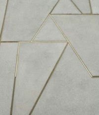 Cement floor with brass or gold inlay, for entry way ...