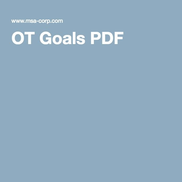 Long And Short Term Goals Examples For Occupational Therapy