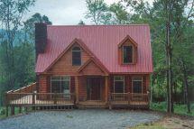 Modular Log Home with Metal Roof
