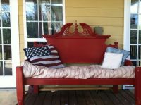 An Outdoor Bench Made From an Old Queen Bed Frame! | Queen ...