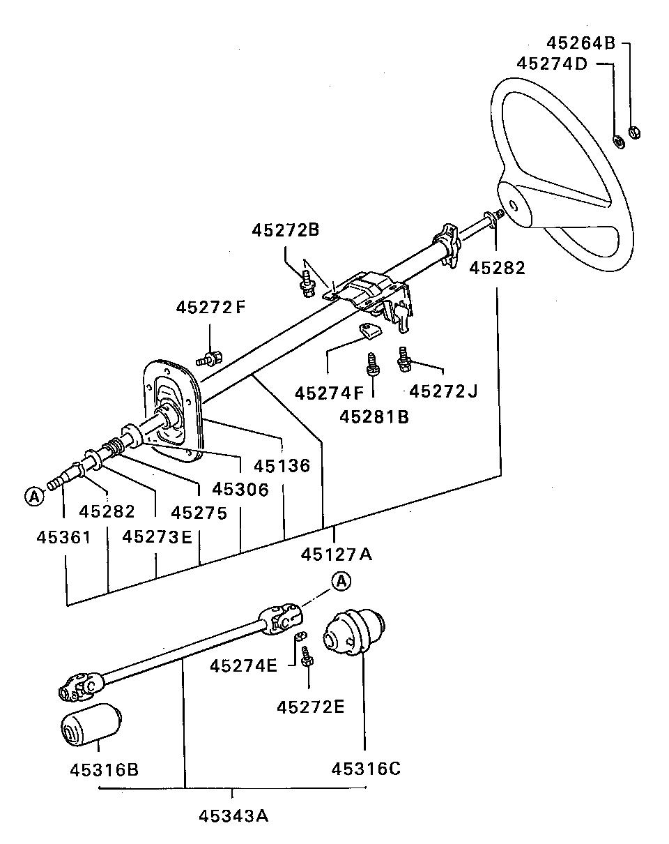mitsubishi L200 BOOT,STEERING SHAFT UNIVERSAL JOINT BRASS