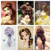 princess belle hair ideas hairstyles