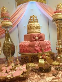 Princess Baby Shower Baby Shower Party Ideas | Royal cakes ...