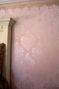 faux painting techniques for walls pink and ivory ...