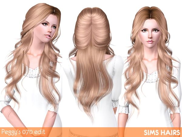 Peggy's 070 Hairstyle Romantic Edit By Sims Hairs For Sims 3