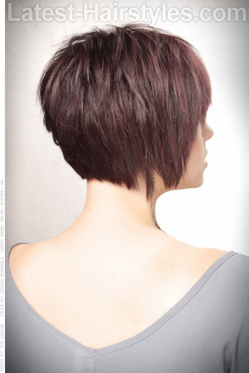 Side Back Textured Bob Short Haircut With Volume And Texture Back