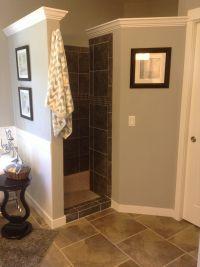 Walk-in shower - no door to clean! SO PRACTICAL. | 210 ...