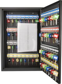 64 Key Storage Cabinet Safe Wall Mount Lock Box Hook ...