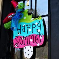 Summer Wreath | Summer Door Hanger | Sunglasses Door ...