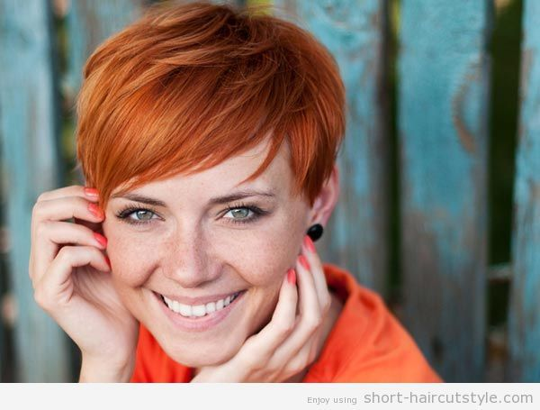 Short Red Hairstyles With Blonde Highlights Cute Love The