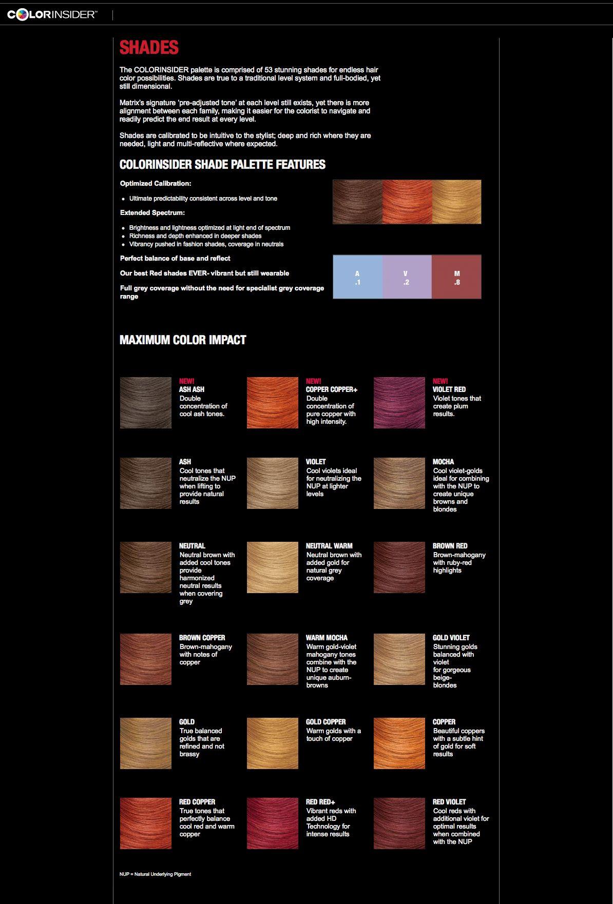 Color Color Matrix Chart Sync