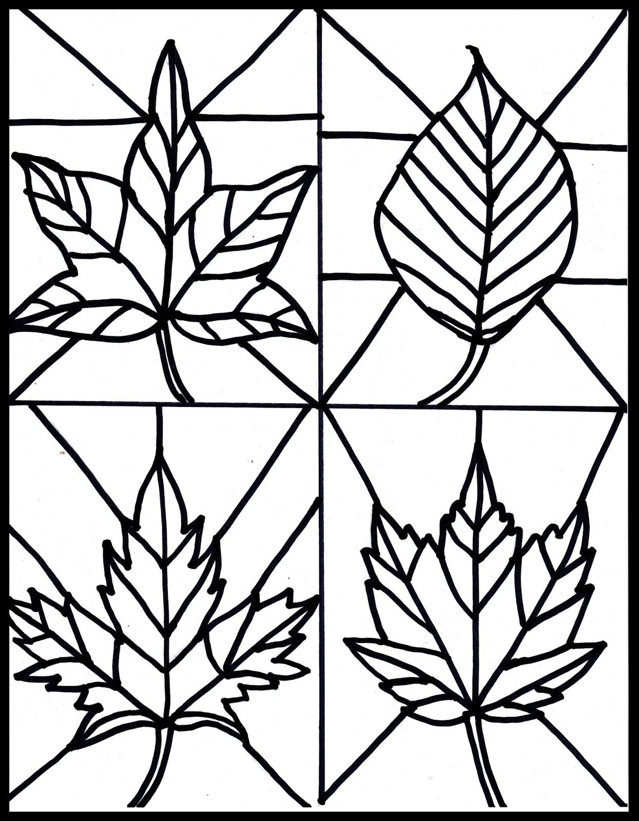 Make it easy crafts: Kid's Craft- stained glass leaves