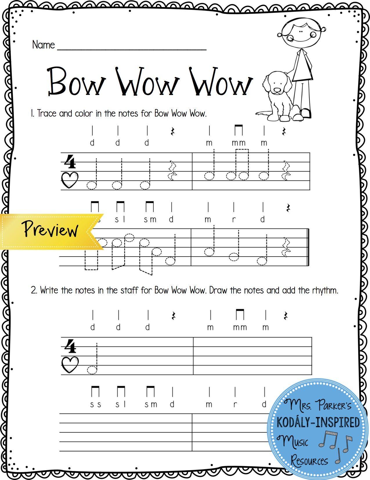 Music Worksheet Bundle Re