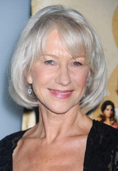 Bob Hairstyles Helen Mirren's Chic Bob Hairstyle Helen Mirren