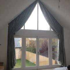 Window Dressing Ideas For Living Rooms Room Decor Blue Brown Curtains Triangular - Google Search   ...