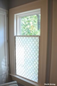How to Make a Pretty DIY Window Privacy Screen | Bathroom ...