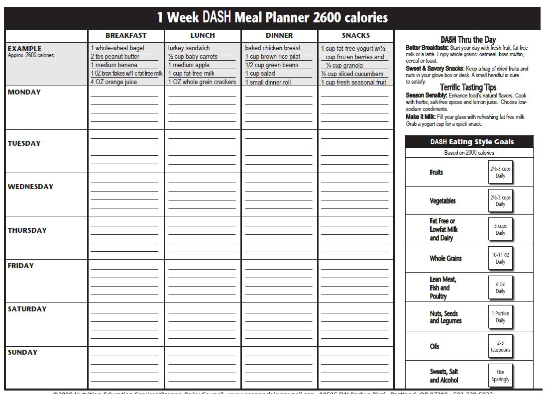 The Dasht Plan Dasht Meal Planner