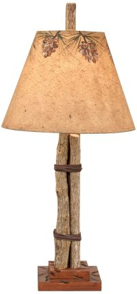 Twig and Leather Accent Lamp - Style # P4005 | Twig ...