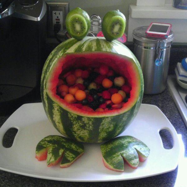 Frog Watermelon Fruit Basket