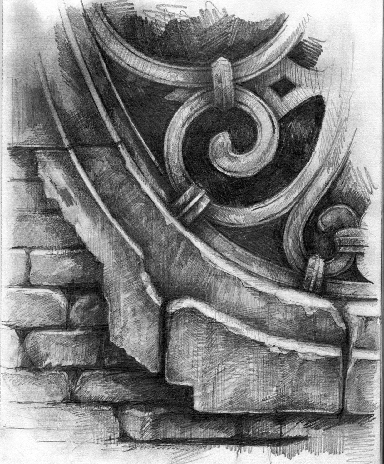 Ian Murphy Venice Window Drawing