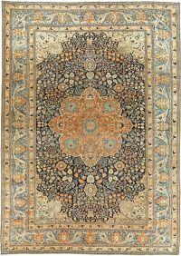 Antique Persian Mohtashem Kashan rug BB6141 by Doris ...