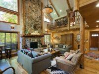 Sundance lodge rental - Classic lodge great room with wood ...