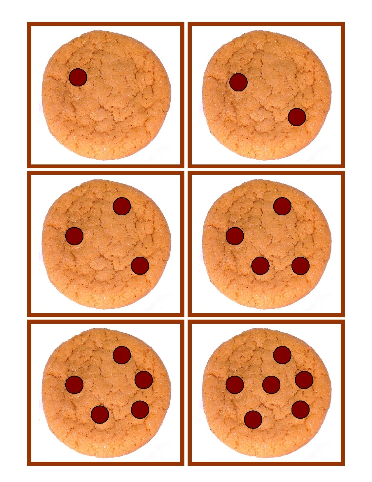 Chocolate Chip Cookie Counting Game Develops Basic