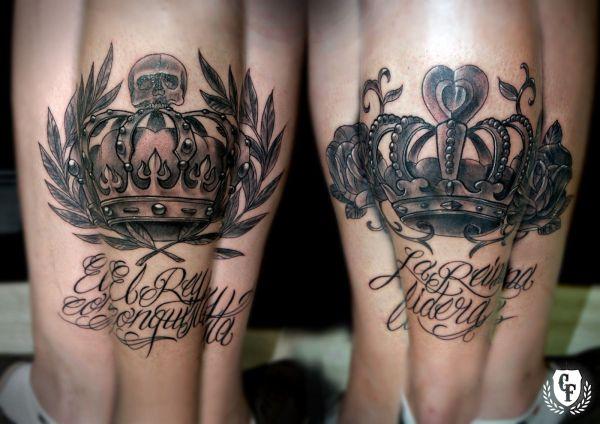 Kissing King And Queen Skull Tattoos Exploring Mars