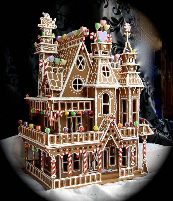 Victorian Gingerbread House Christmas Pinterest